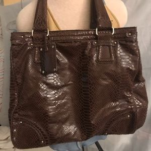 Liz Claiborne  brown tote bag